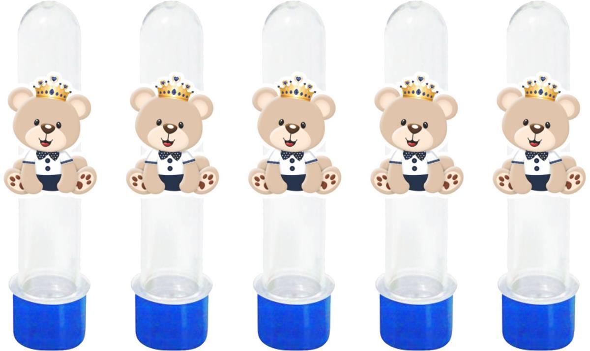 Kit festa Urso Príncipe (azul escuro ) 110 peças (10 pessoas)