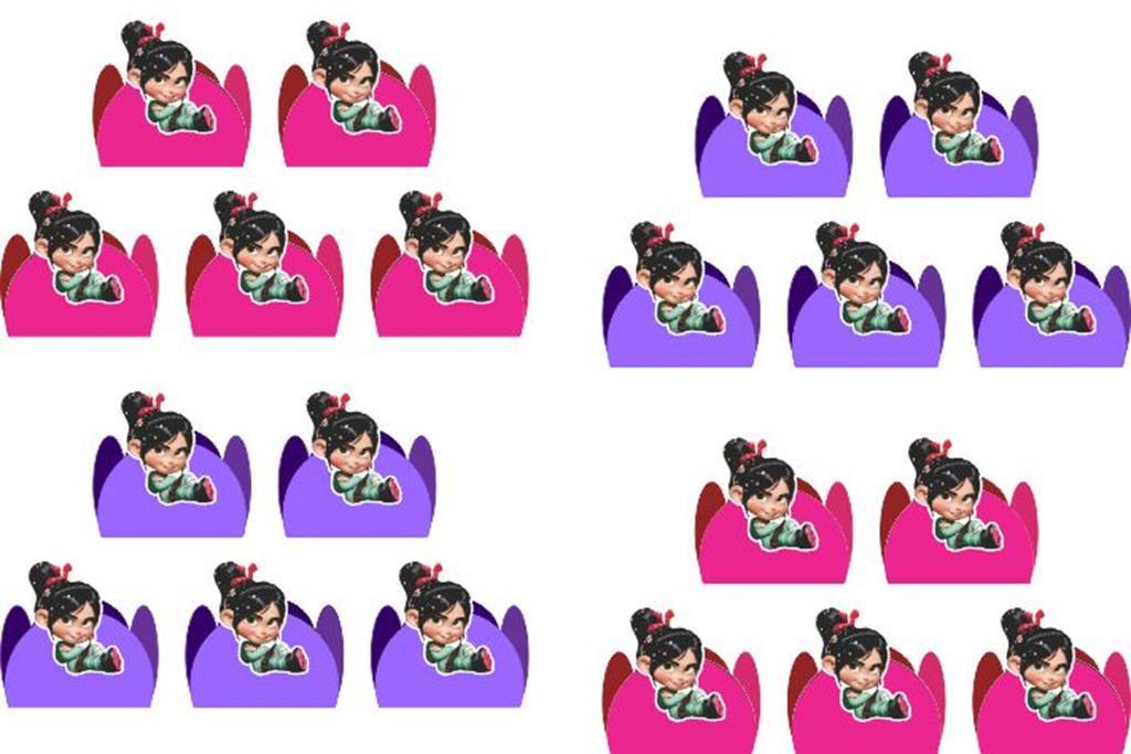 Kit festa Vanellope (Detona Ralph) 106 peças (10 pessoas)