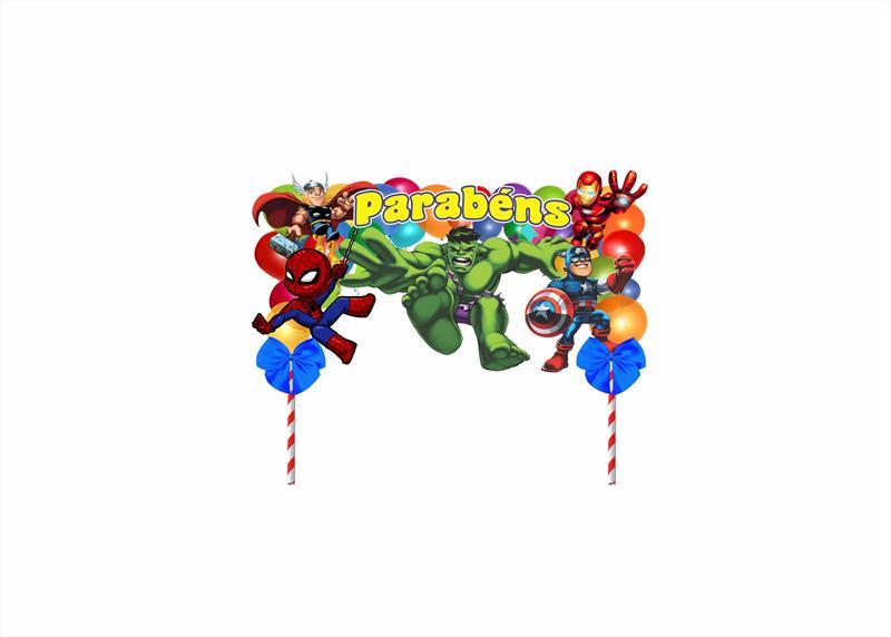 Kit festa decorado  Vingadores Baby  105 peças (10 pessoas)