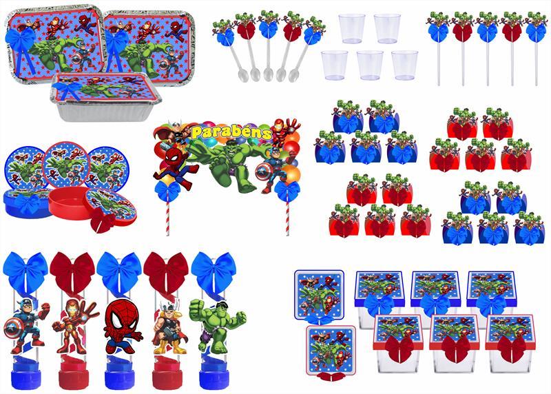 Kit festa decorado Vingadores Baby 191 peças (20 pessoas)