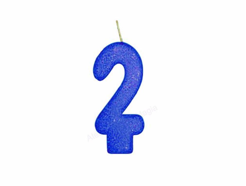 vela de aniversário azul número 2 (1 unidade)