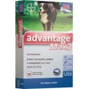 Antipulgas e Carrapatos Bayer Advantage MAX3 para Cães Acima de 25 Kg - 4 mL