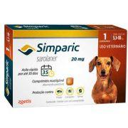 Antipulgas Zoetis Simparic 20 mg para Cães 5,1 a 10 Kg