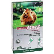 Antipulgas e Carrapatos Bayer Advantage MAX3 com 1 Bisnaga