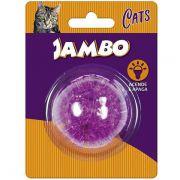 Brinquedo Jambo Bola Espinho Acende e Apaga Roxa para Gatos