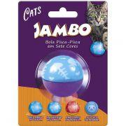 Brinquedo Jambo Bola Pisca-Pisca para Gatos