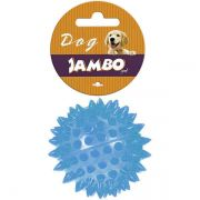 Brinquedo Jambo Bola TPR Espinho com Som Azul