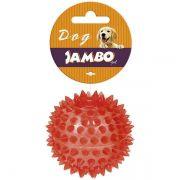 Brinquedo Jambo Bola TPR Espinho com Som Vermelha