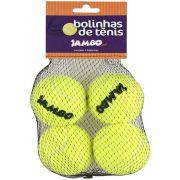 Brinquedo Jambo Bolinhas de Tênis Amarela com 4 Unidades