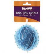 Brinquedo Jambo Mordedor Bola TPR Oxford Azul