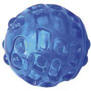 Brinquedo Jambo Mordedor Bola Transparente Ball Sound Azul