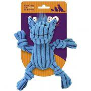 Brinquedo Jambo Mordedor Mini Knot Hippo Azul