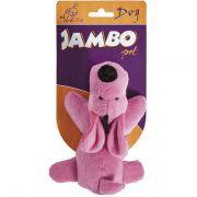 Brinquedo Jambo Mordedor Pelúcia Cachorrinho Rosa