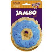 Brinquedo Jambo Mordedor Pelúcia Food Donut Azul