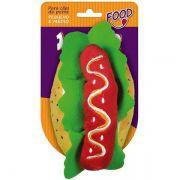 Brinquedo Jambo Mordedor Pelúcia Food Hotdog