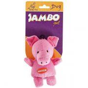 Brinquedo Jambo Mordedor Pelúcia Porquinho