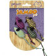 Brinquedo Jambo Ratinho Palha - 4 Unidades