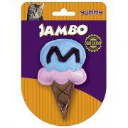 Brinquedo Jambo Yummy Cat Sorvete Azul