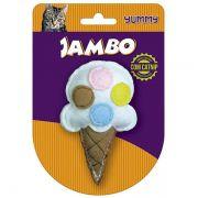 Brinquedo Jambo Yummy Cat Sorvete Branco