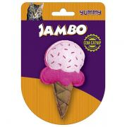 Brinquedo Jambo Yummy Cat Sorvete Rosa