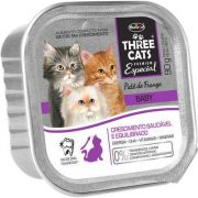 Patê Hercosul Three Cats Baby Frango para Gatos Filhotes 90 g
