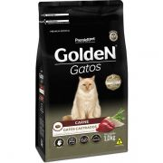 Ração Premier Golden Carne para Gatos Adultos Castrados