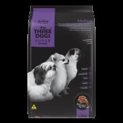 Ração Hercosul Three Dogs Especial Cordeiro e Blueberry para Adultos de Raças Pequenas e Mini