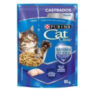 Ração Nestlé Purina Cat Chow Castrados Sachê Peixe ao Molho