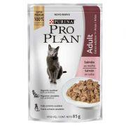 Ração Nestlé Purina Pro Plan Cat Wet Sachê Salmão ao Molho para Gatos 1 + Adultos