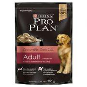 Ração Úmida Nestlé Purina Pro Plan Carne ao Molho para Cães Adultos Sachê - 100 g