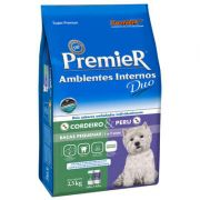 Ração Premier Pet Ambientes Internos DUO Cordeiro e Peru para Cães Adultos de Raças Pequenas