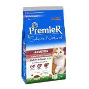 Ração Premier Seleção Natural Frango Korin e Vegetais para Gatos Adultos