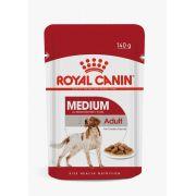 Ração Royal Canin Sachê Medium Adult para Cães 11 até 25 kg - 140 g
