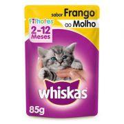 Ração Úmida Whiskas Sachê Frango ao Molho para Gatos Filhotes 85 g