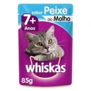 Ração Úmida Whiskas Sachê Peixe ao Molho para Gatos Sênior 7 + Anos - 85 g