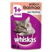 Ração Úmida Whiskas Sachê Salmão ao Molho para Gatos Adultos 85 g