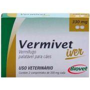 Vermífugo Biovet Vermivet Iver 330 mg para Cães 2 Comprimidos