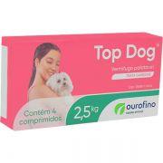Vermifugo OuroFino Top Dog para Cães de até 2.5 Kg - 4 Comprimidos
