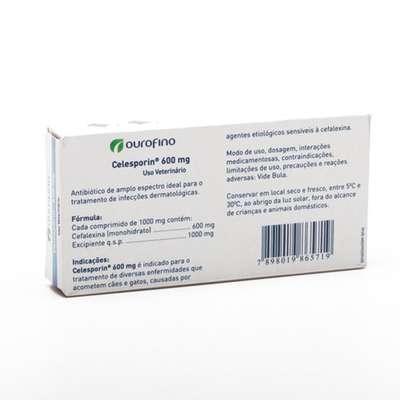 Antibiótico Ourofino Celesporin 10 Comprimidos - 600 mg