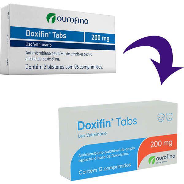 Antimicrobiano Ourofino Doxifin Tabs 12 Comprimidos - 200 mg