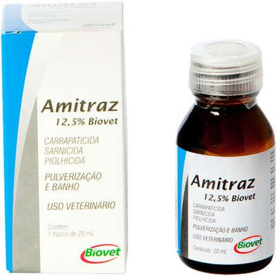 Antiparasitário Biovet Amitraz 12,5% 20 ml