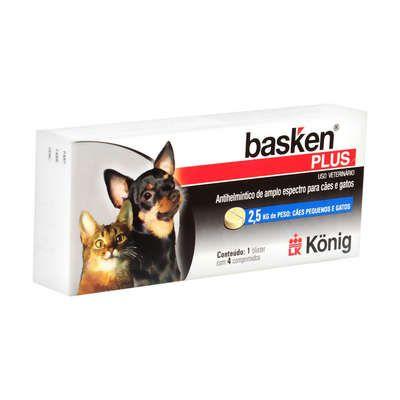 Antiparasitário Basken Plus - 4 comprimidos