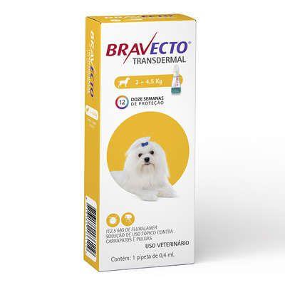 Antipulgas e Carrapatos MSD Bravecto Transdermal para Cães
