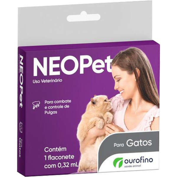 Antipulgas e Carrapatos OuroFino Neopet 0,32 mL para Gatos até 8 Kg
