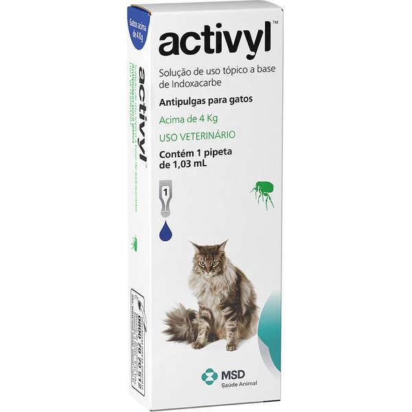 Antipulgas MSD Activyl 0,51 mL - Gatos até 4 Kg