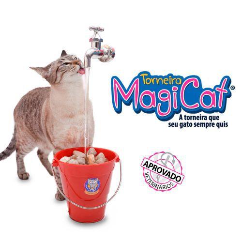 Bebedouro CatMyPet Fonte para Gatos Torneira MagiCat 110 v