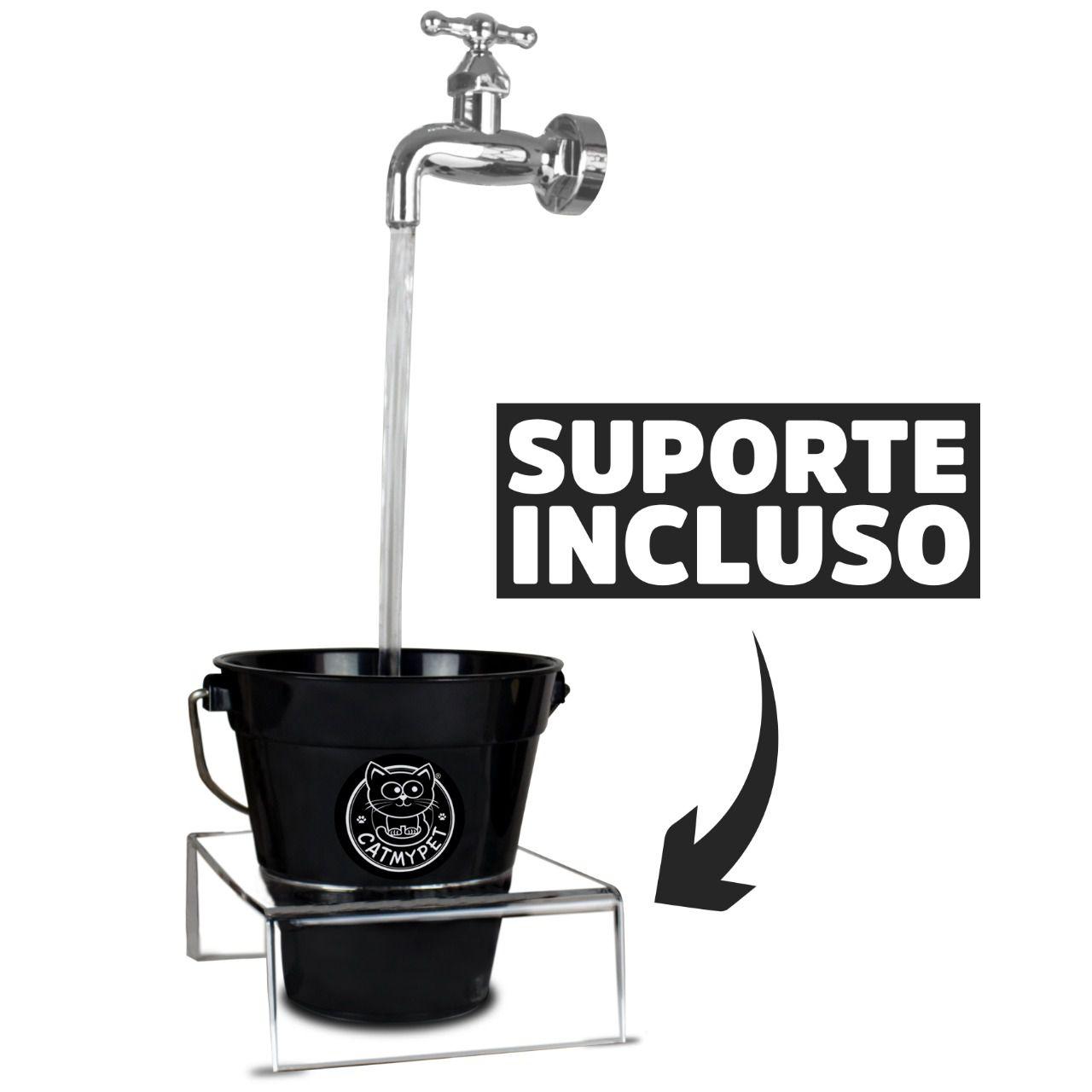 Bebedouro Catmypet Torneira Magicat - Edição Especial BLACK com Suporte Incluído 110 V
