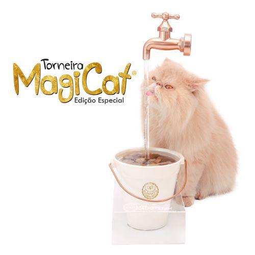 Bebedouro CatMyPet Torneira Magicat - Edição Especial Gold 110V