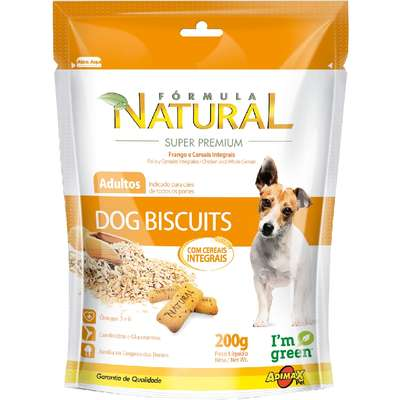 Biscoito Adimax Pet Formula Natural Dog Biscuit para Cães Adultos - 200 g
