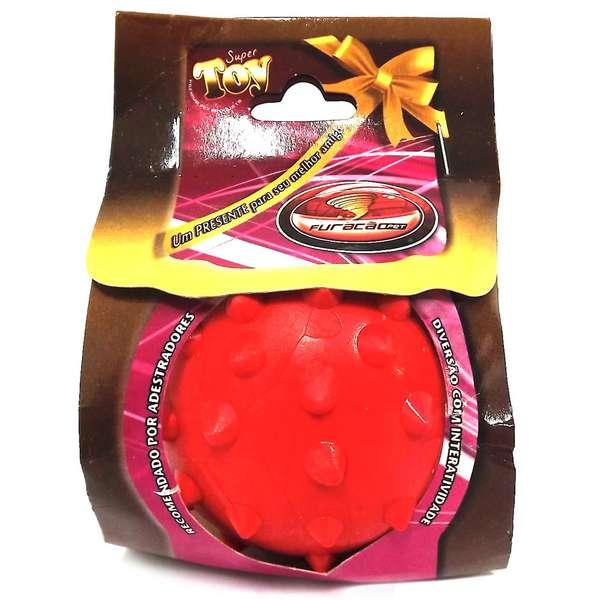 Brinquedo Furacão Pet Bola Maciça Cravo Vermelho - 80mm